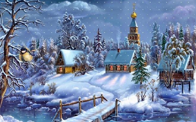 Karácsonyváró téli táj