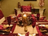 Terített karácsonyi asztal
