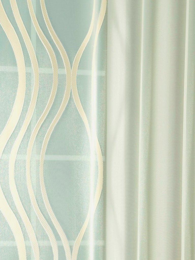 Nyírt mintás átlátszó függöny