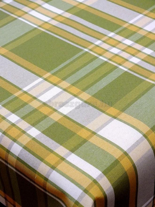 Alexandra abrosz - 209 Zöld kockás sárga csíkokkal