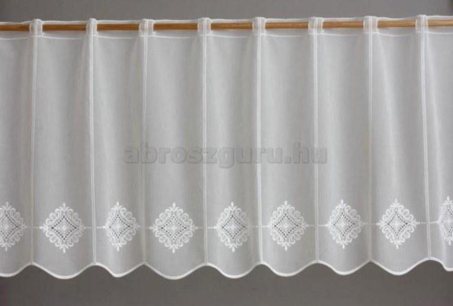 Anjou mintás hímzett sable vitrázs függöny-2632-45 cm