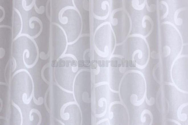 Indamintás nyírt természetes hatású függöny-9722-01 Fehér