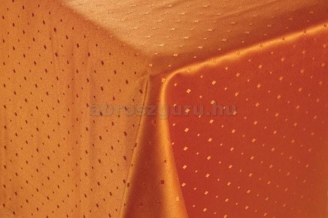 Caroline aprókockás damaszt abrosz-Narancs