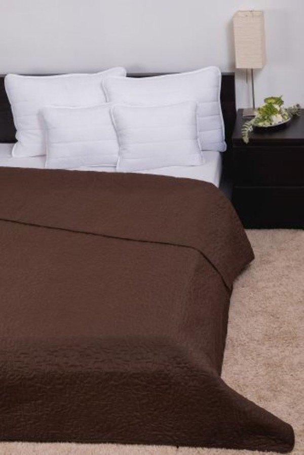 CLARA microfiber ágytakaró márvány steppeléssel - Csokoládé - 23