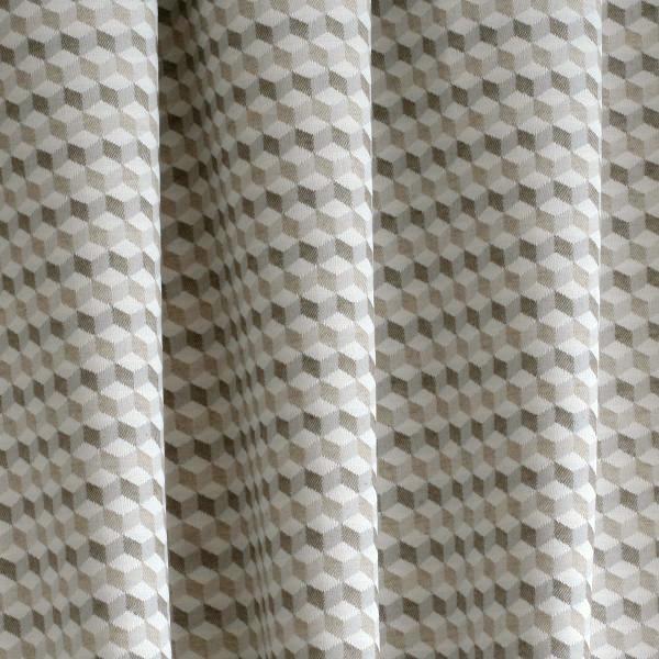 Colors Voss dekor-bézs kockás-C52-díszpárnahuzat