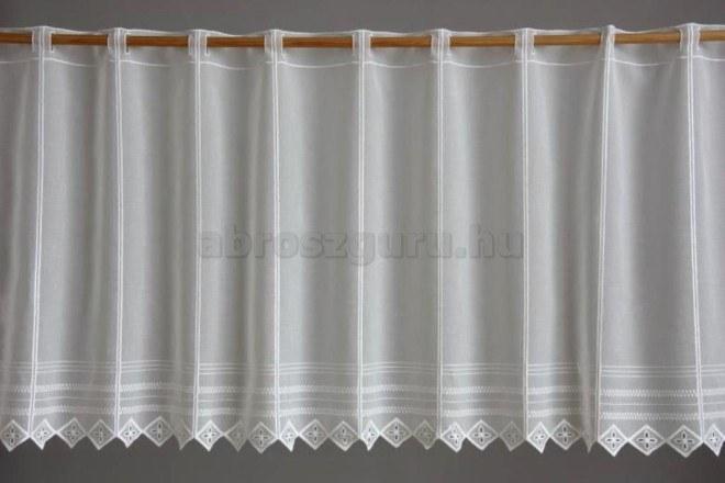 Ekrü sable vitrázs függöny - 26534 - 30 cm