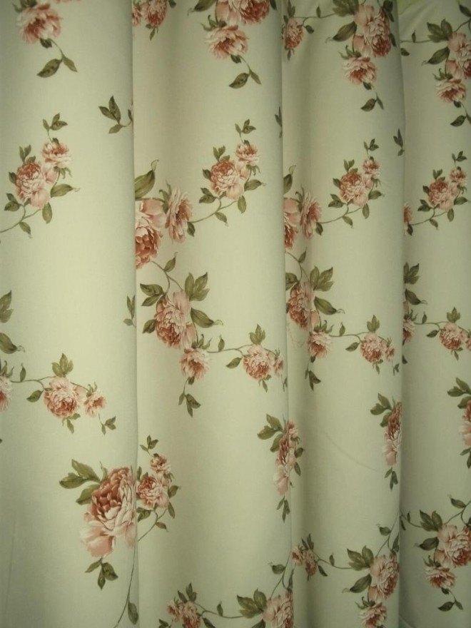 Angol rózsás pamutszatén Oldalsál függöny