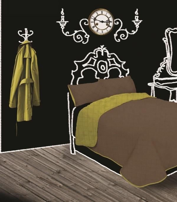 GINA ágytakaró - Világoszöld-Nugát - 250x260 cm (párnahuzat nélk