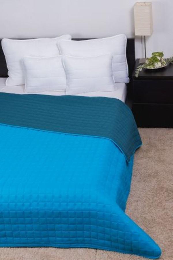 LAURA microfiber ágytakaró - Türkiz-Kék - 235x250 cm