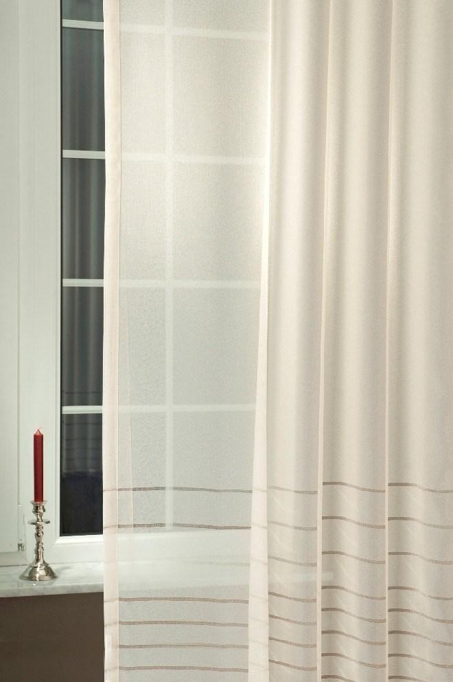 Letizia csíkos félorganza cafe átlátszó függöny