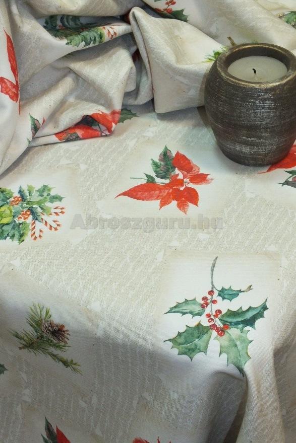 Magyal karácsonyi pamut abrosz-D50