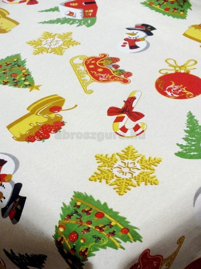 Mesés karácsony pamutvászon terítő