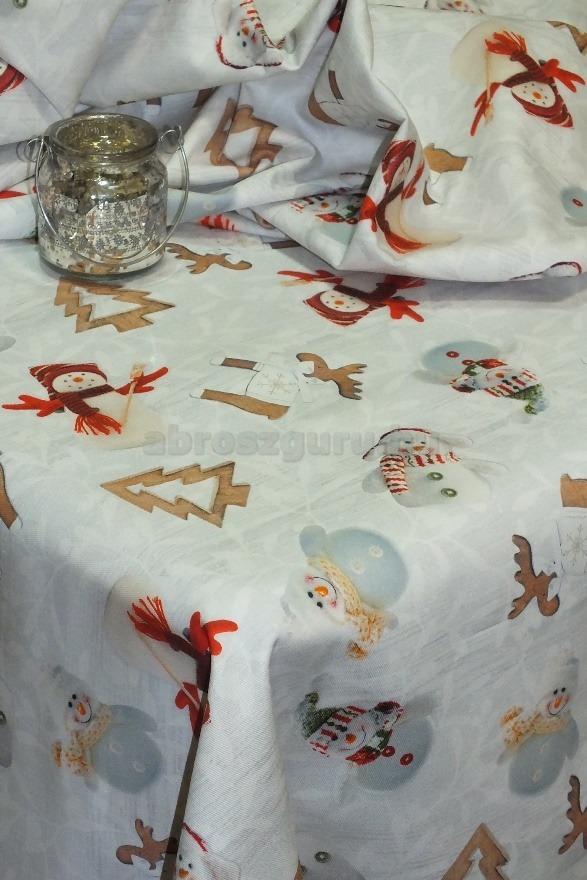 Mézeskalács karácsonyi pamut abrosz-B50