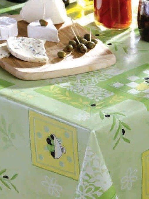 Oliva bogyós viaszos vászon terítő