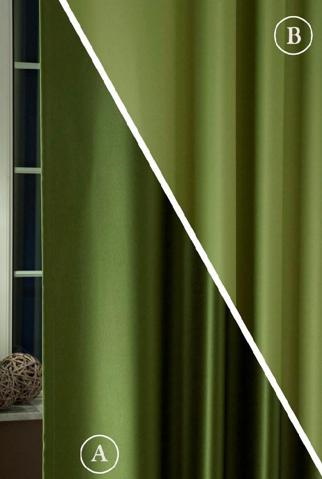 Pierrot kétoldalas Blackout Oliva-Zöld függöny Elkötő