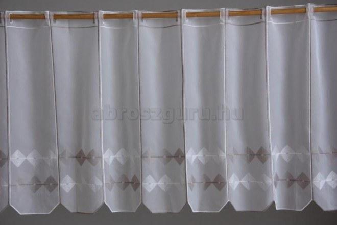 Rombusz mintás vitrázs függöny-26526-90 cm
