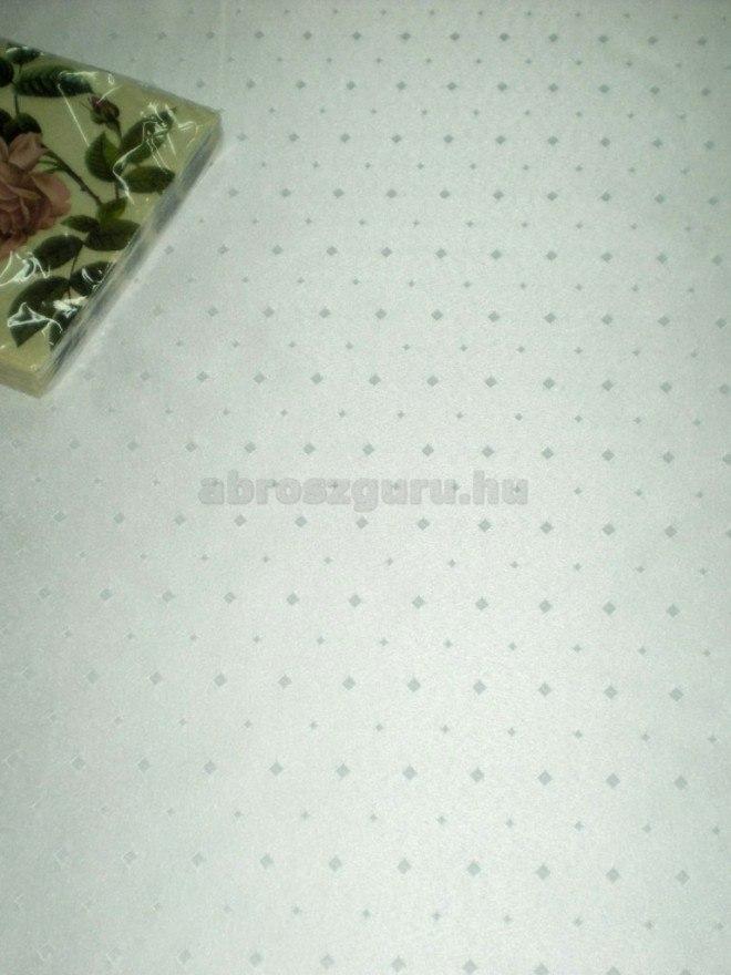 Caroline aprókockás damaszt abrosz-Fehér