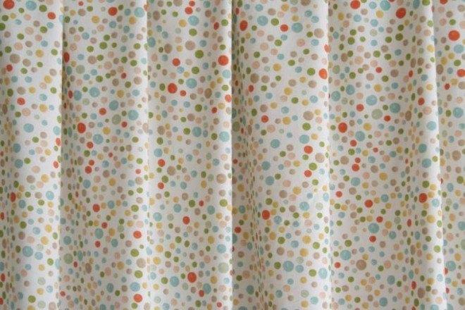 Twister City Life pöttyös dekor-B2-drapéria